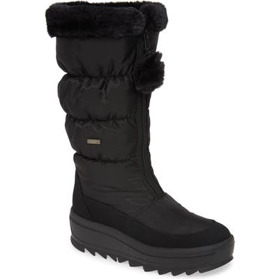 Pajar Toboggan 2.0 Faux Fur Trim Waterproof Insulated Boot, Black