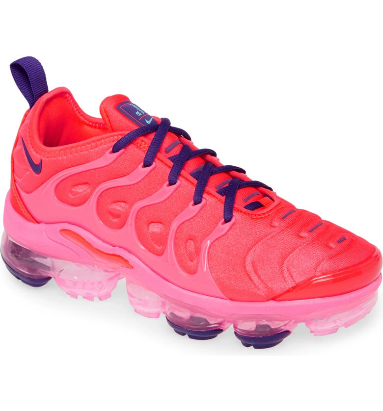 NIKE Air VaporMax Plus Sneaker, Main, color, BRIGHT CRIMSON/ PINK