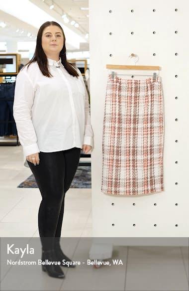 Plaid Tweed Pencil Skirt, sales video thumbnail