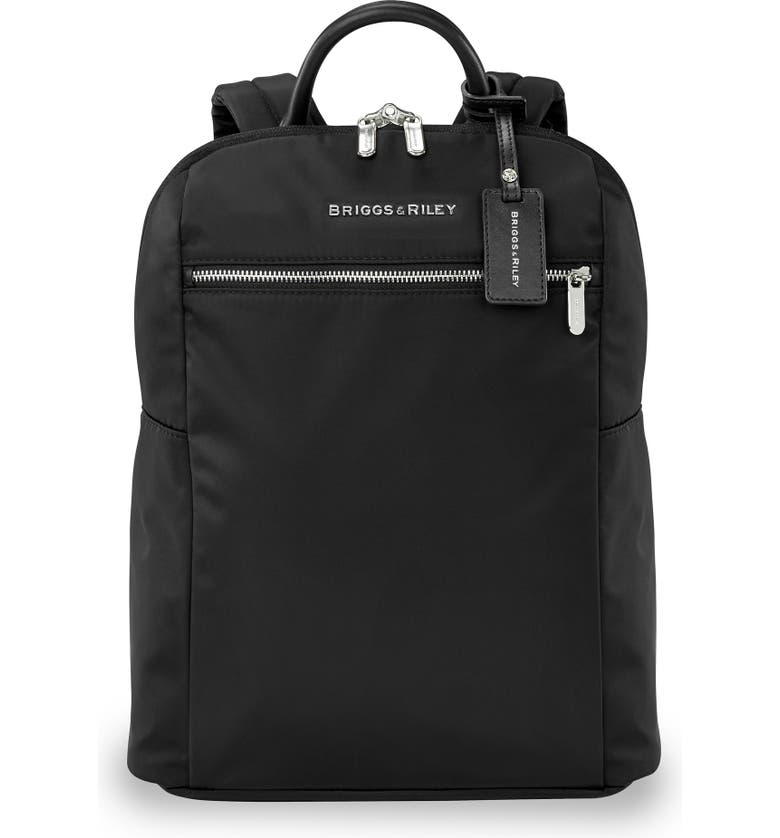 BRIGGS & RILEY Slim Backpack, Main, color, BLACK