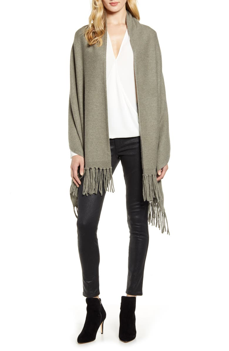 NORDSTROM Wool & Cashmere Travel Wrap, Main, color, 315