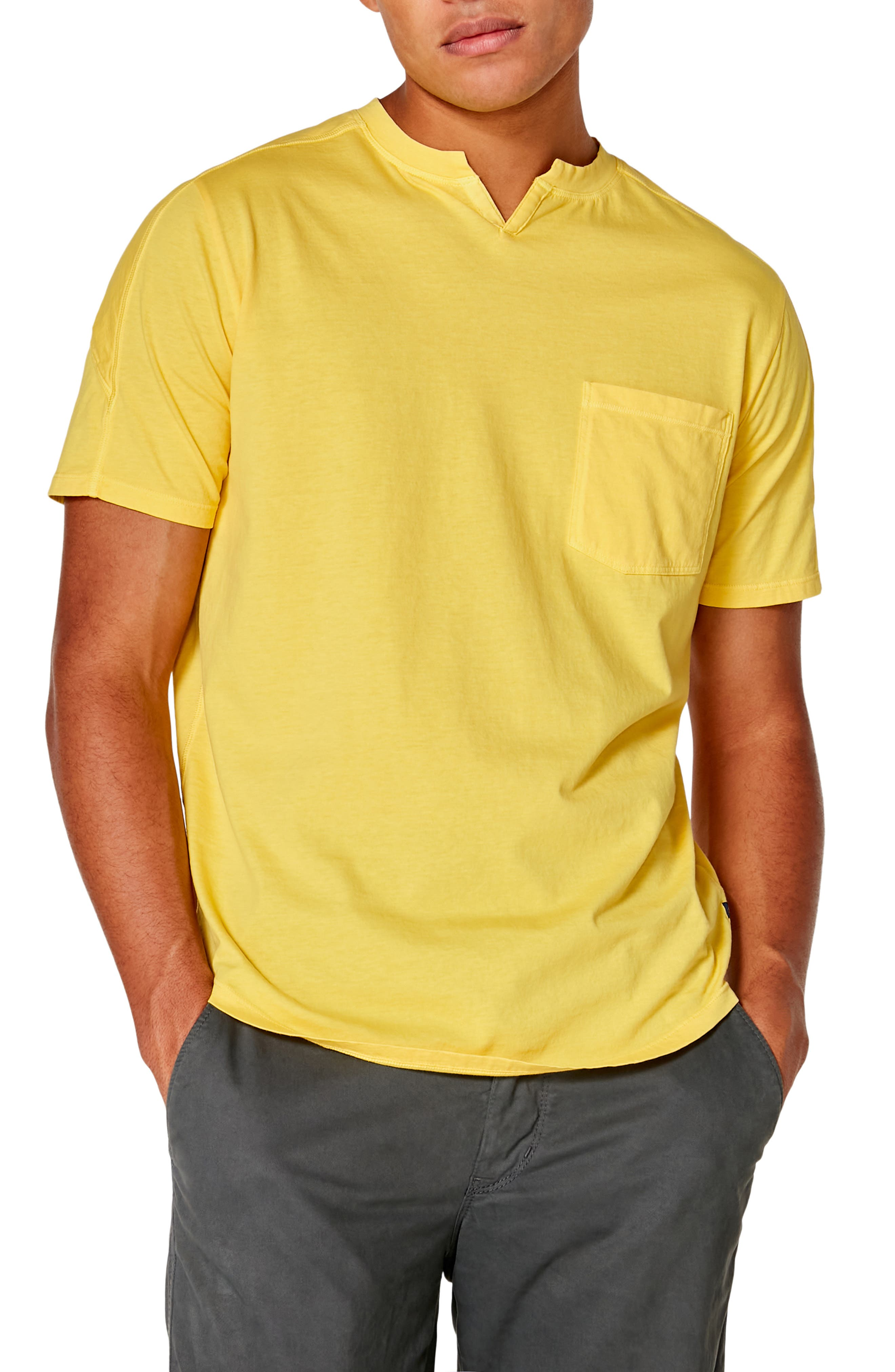A notched collar updates a wardrobe-staple T-shirt cut from supersoft slub-cotton jersey. Style Name: Good Man Brand Premium Cotton T-Shirt. Style Number: 5534088 6. Available in stores.
