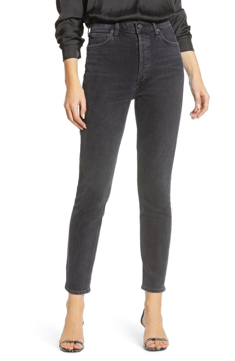 AGOLDE Nico High Waist Slim Leg Jeans, Main, color, VIRTUE