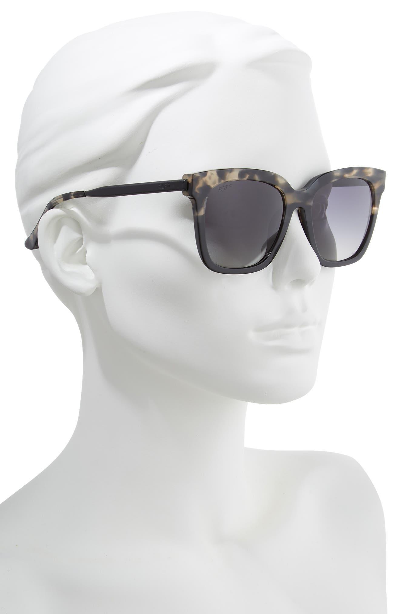 ,                             Bella 52mm Polarized Sunglasses,                             Alternate thumbnail 2, color,                             GREY FAGE/ GREY