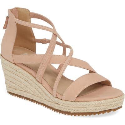 Eileen Fisher Wanda Cross Strap Wedge Sandal, Pink