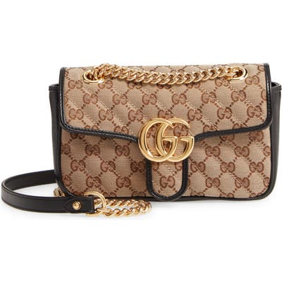Gucci Mini Gg 2.0 Quilted Shoulder Bag - Beige