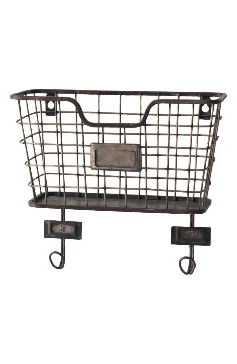 FORESIDE Wall Basket, Main, color, METAL
