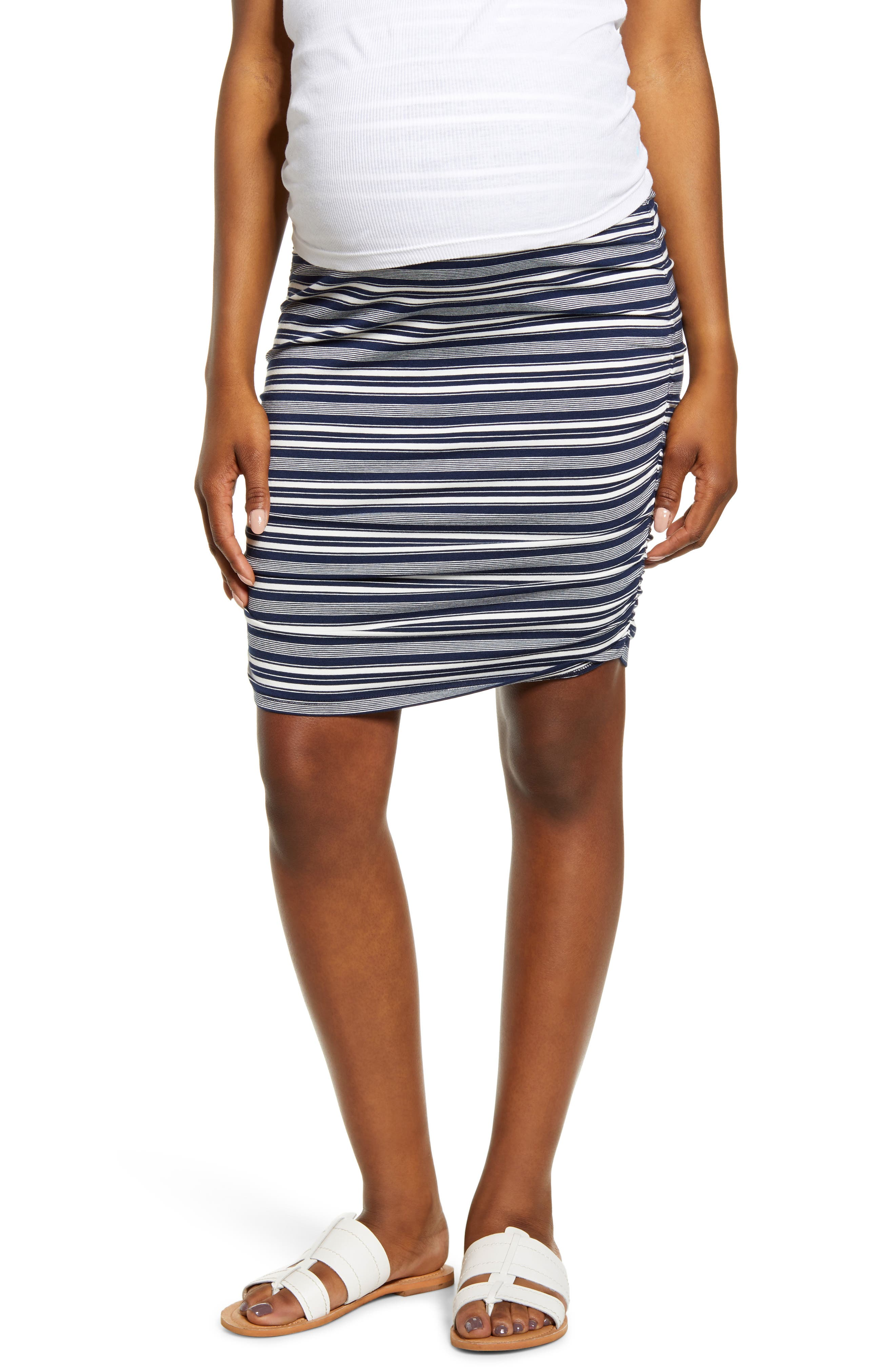 Over The Belly Ruched Maternity Skirt