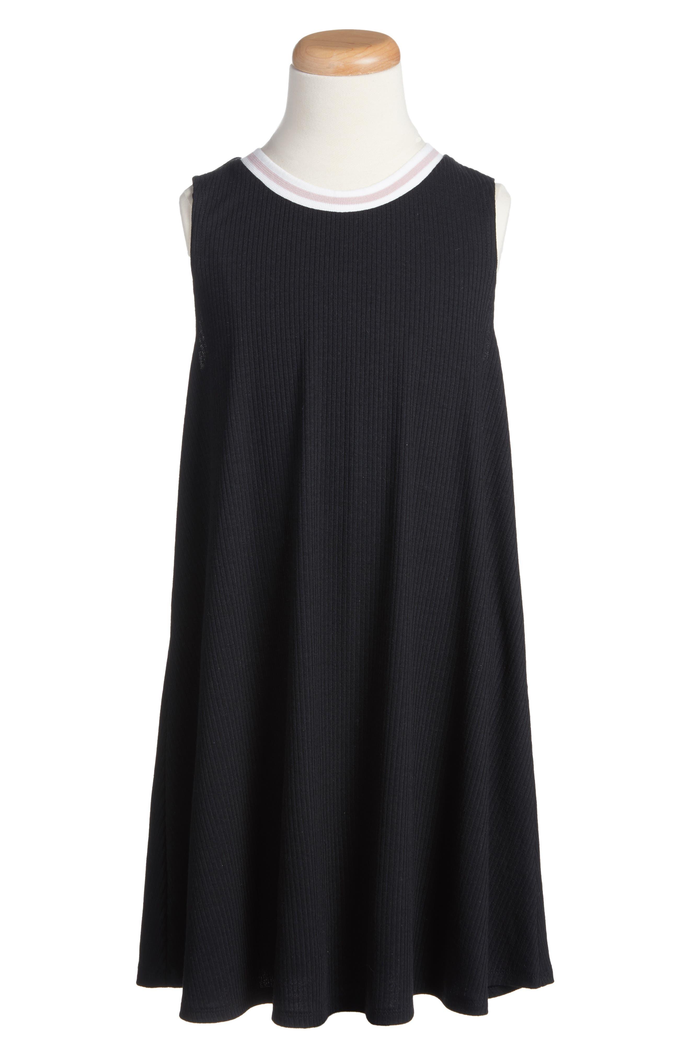 ,                             Ringer Tank Dress,                             Main thumbnail 1, color,                             001