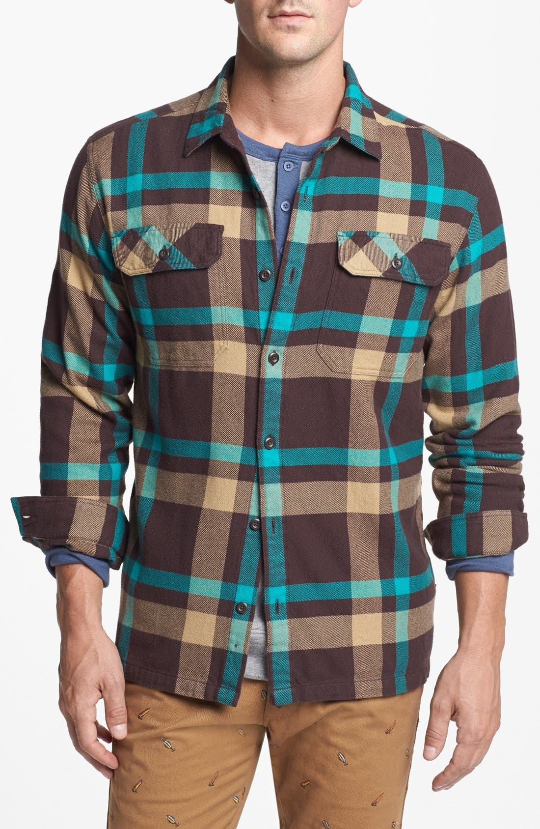 ,                             'Fjord' Regular Fit Organic Cotton Flannel Shirt,                             Main thumbnail 51, color,                             001