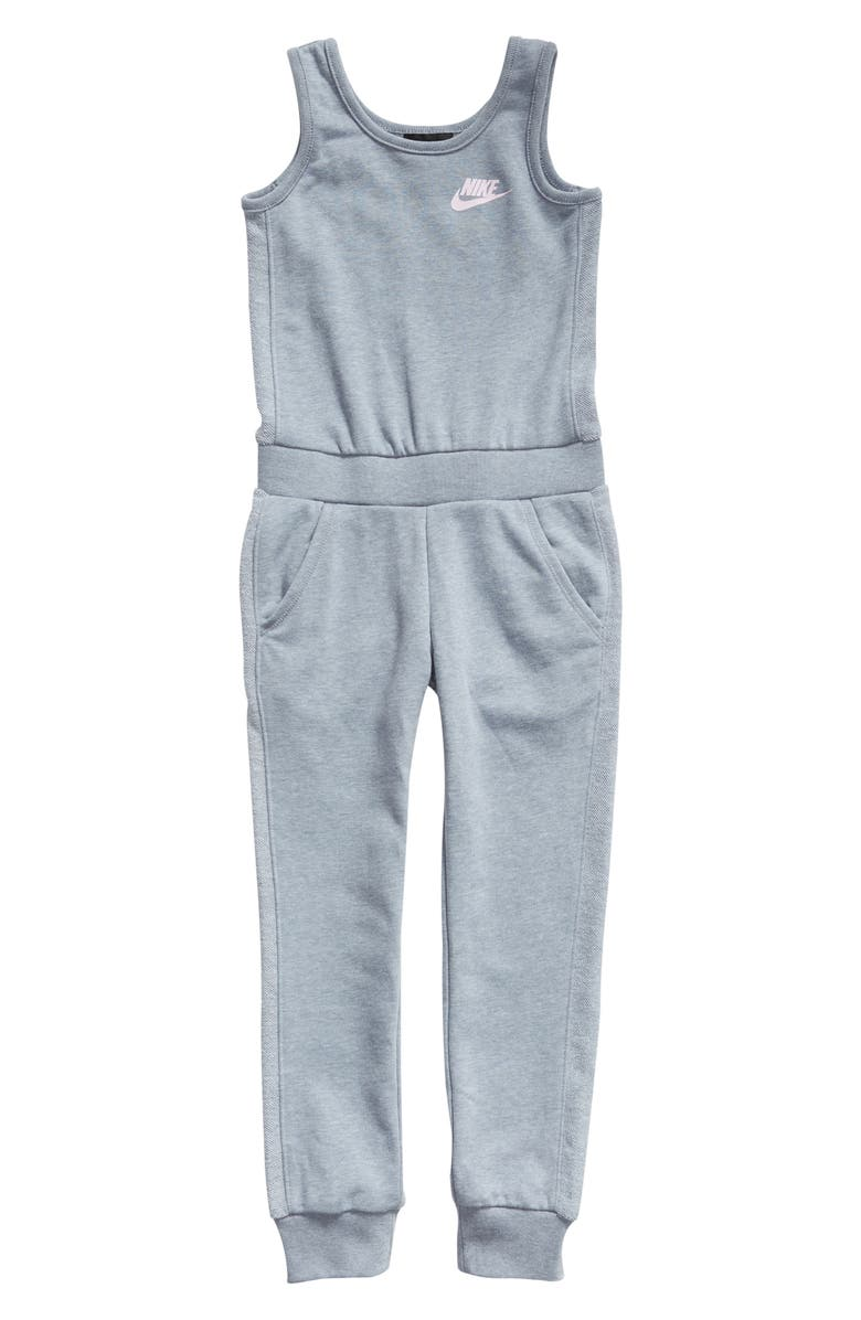 NIKE French Terry Jumpsuit, Main, color, 031
