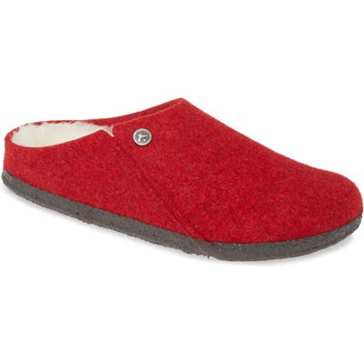 Birkenstock Zermatt Genuine Shearling Lined Slipper,9.5 - Red