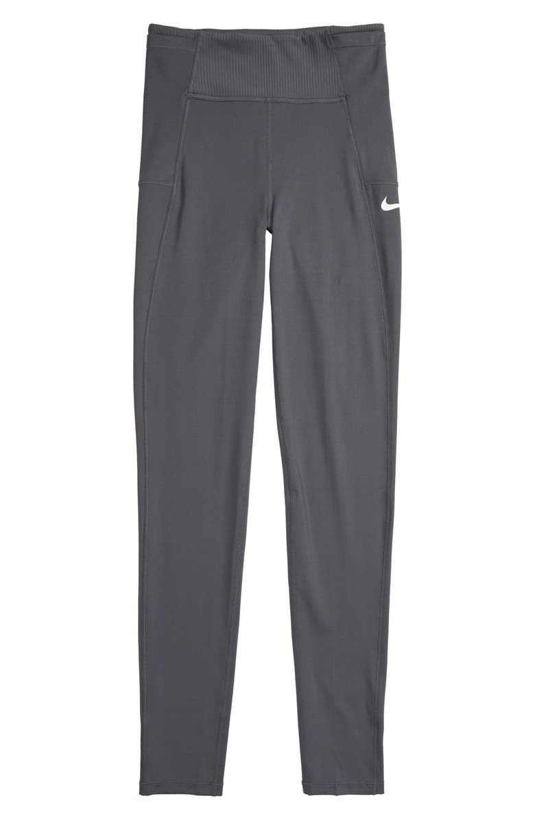 NIKE Training Tights, Main, color, DARK GREY/ WHITE