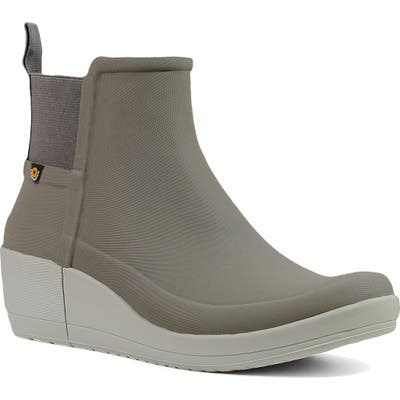 Bogs Vista Waterproof Wedge Rain Bootie, Grey