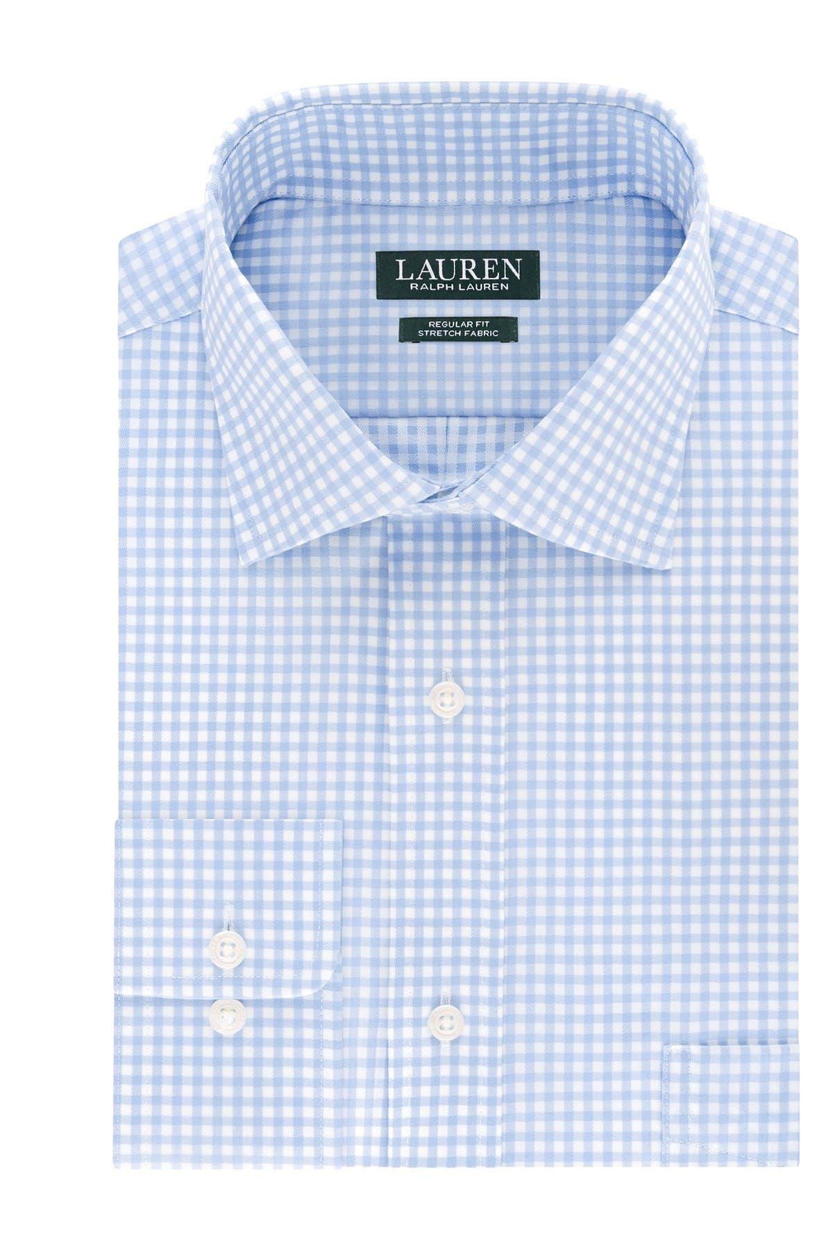 Image of Lauren Ralph Lauren Regular Fit Stretch Check Dress Shirt