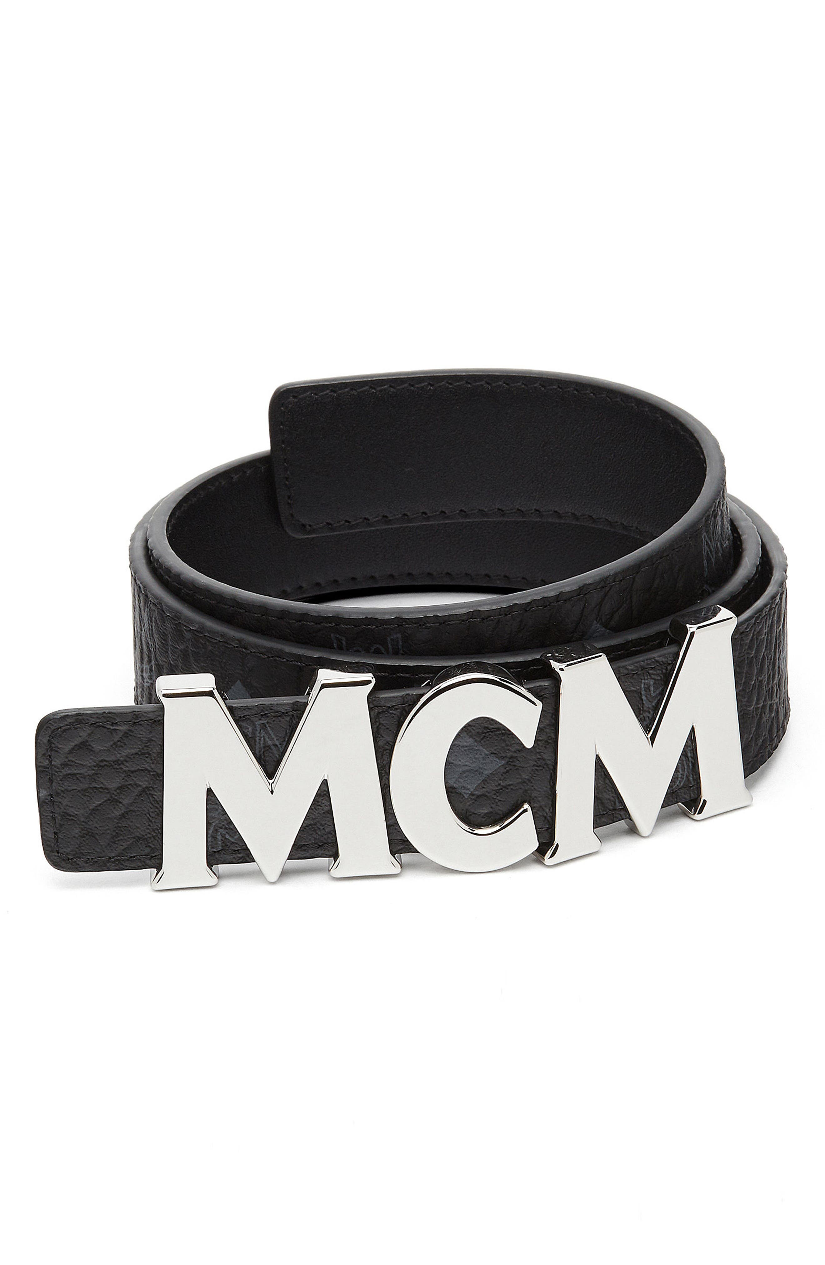 Reversible Coated Canvas/Leather Belt