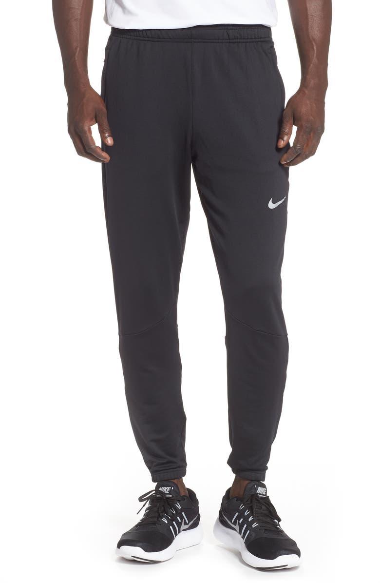NIKE Phenom Knit Running Pants, Main, color, BLACK/ REFLECTIVE SILVER