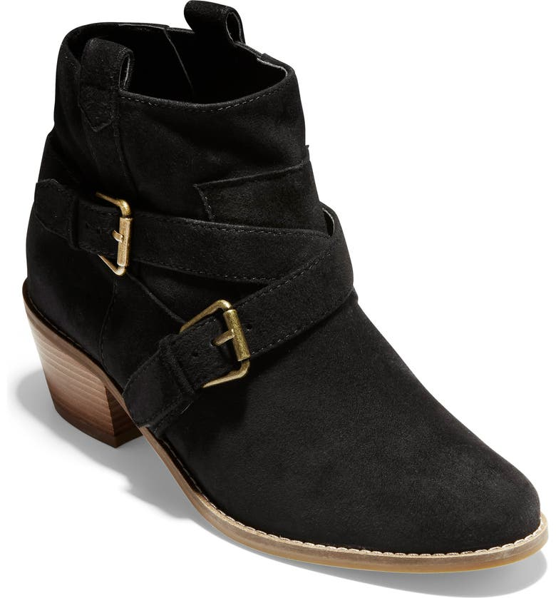 COLE HAAN Jensynn Bootie, Main, color, BLACK SUEDE