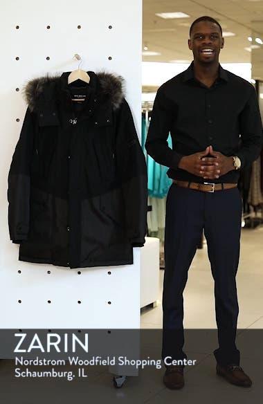 Maxfield Faux Fur Trim Parka, sales video thumbnail
