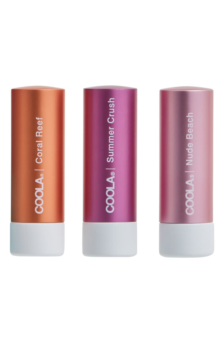 COOLA<SUP>®</SUP> Suncare Mineral Liplux<sup>®</sup> SPF 30 Tinted Lip Trio, Main, color, NO COLOR