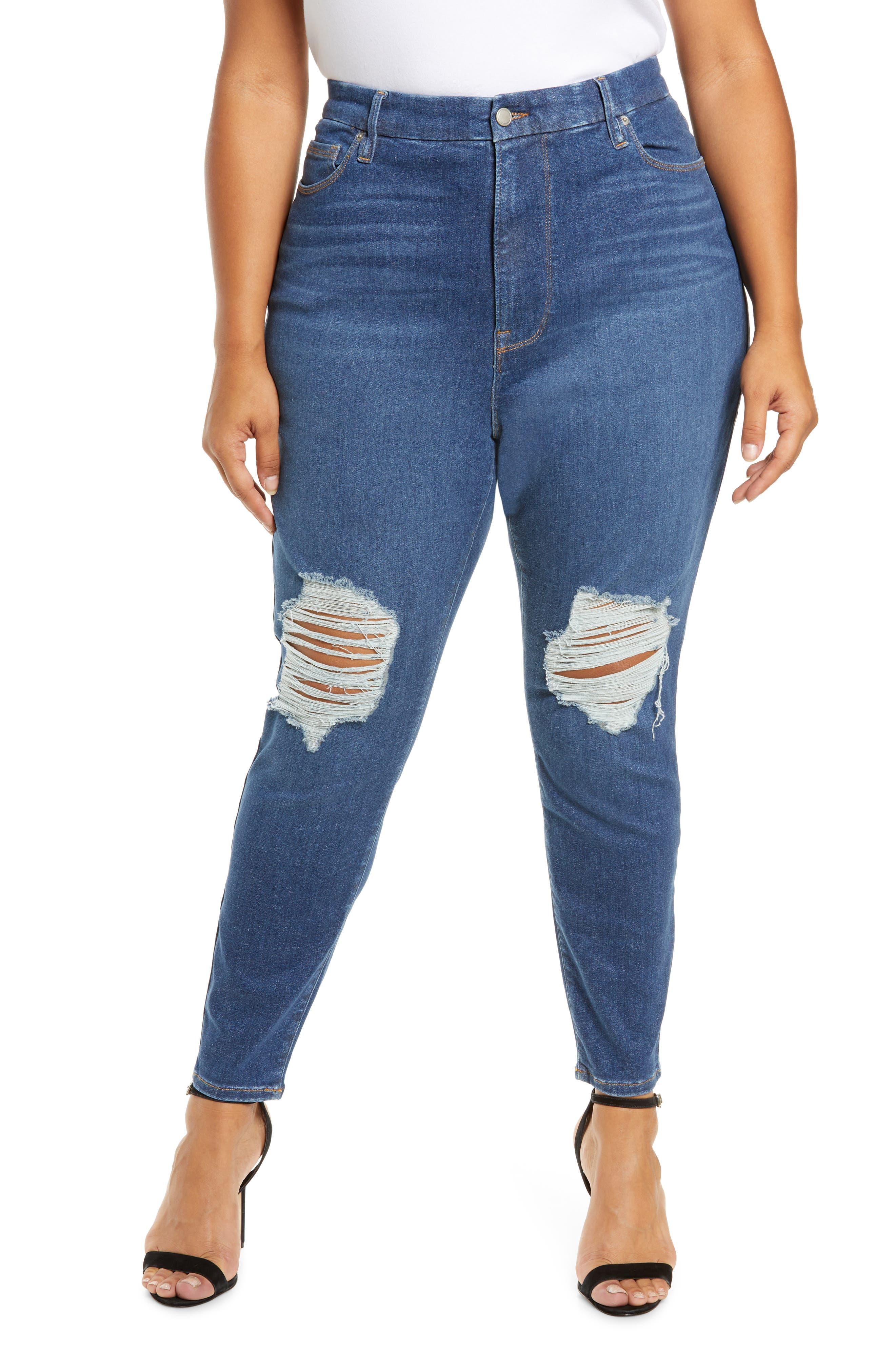 Plus Women's Good American Always Fits Ankle Skinny Jeans