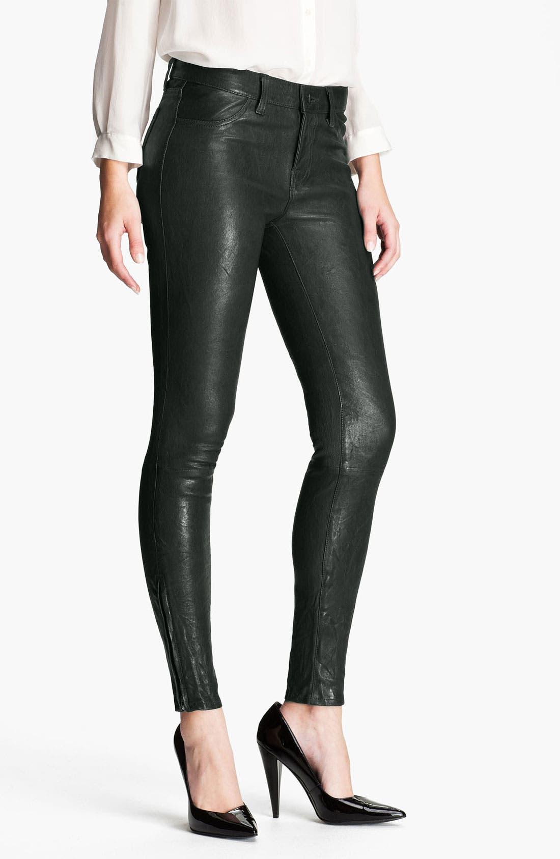 ,                             '8001' Lambskin Leather Pants,                             Main thumbnail 59, color,                             307