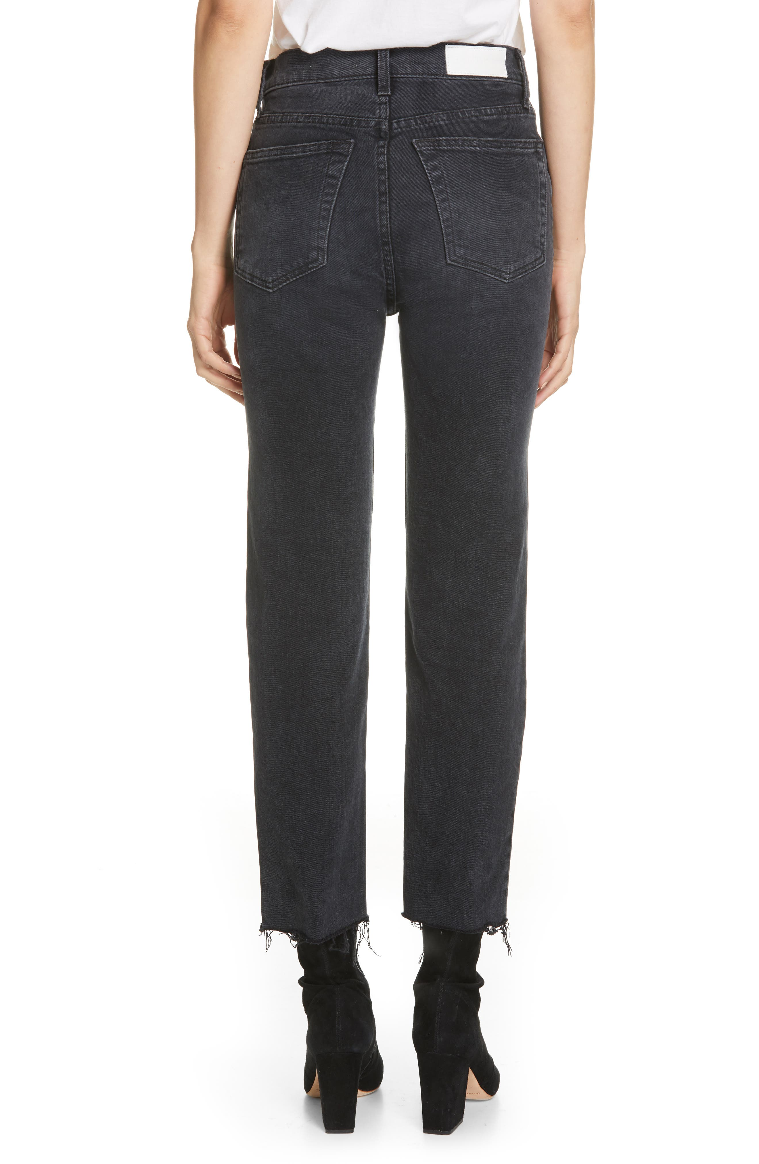 Re/done Jeans Originals High Waist Stovepipe Jeans