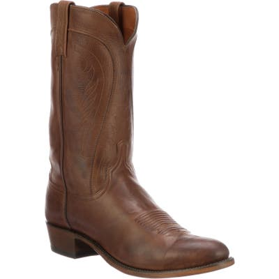 Lucchese Bart Cowboy Boot - Brown