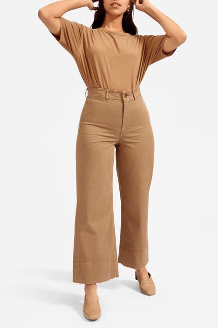 Image of EVERLANE The Lightweight Wide Leg Crop Chino Pants