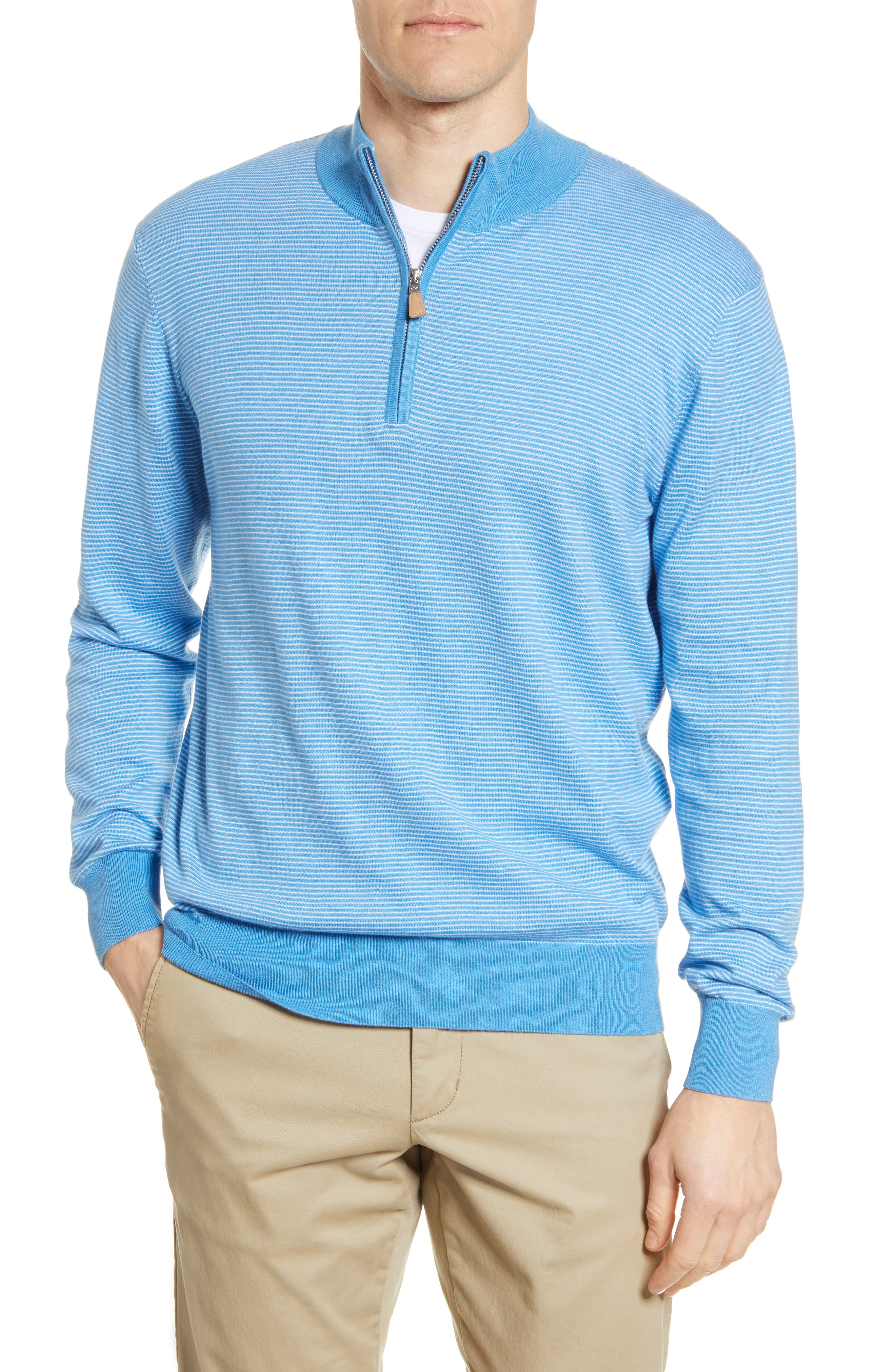 Image of Peter Millar Crown Soft Quarter Zip Pullover