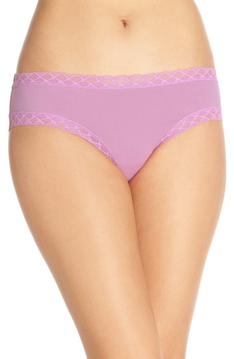 NATORI Bliss Cotton Girl Briefs, Main, color, HYACINTH