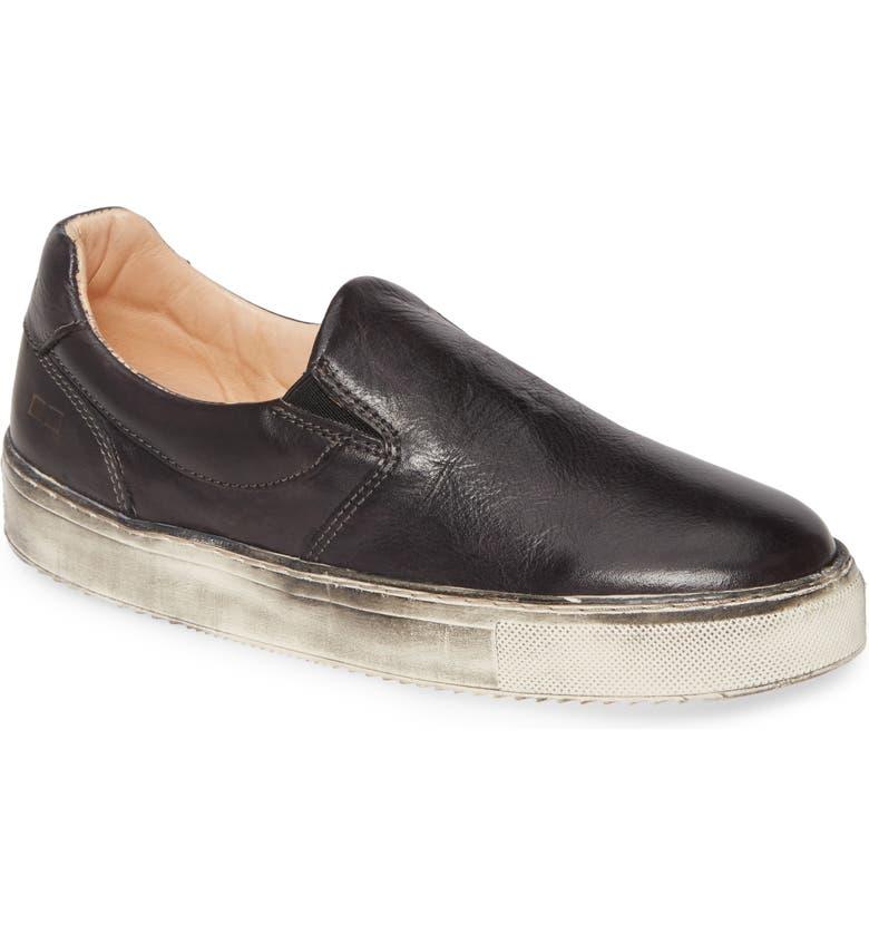 BED STU Hermione Slip-On Sneaker, Main, color, BLACK RUSTIC