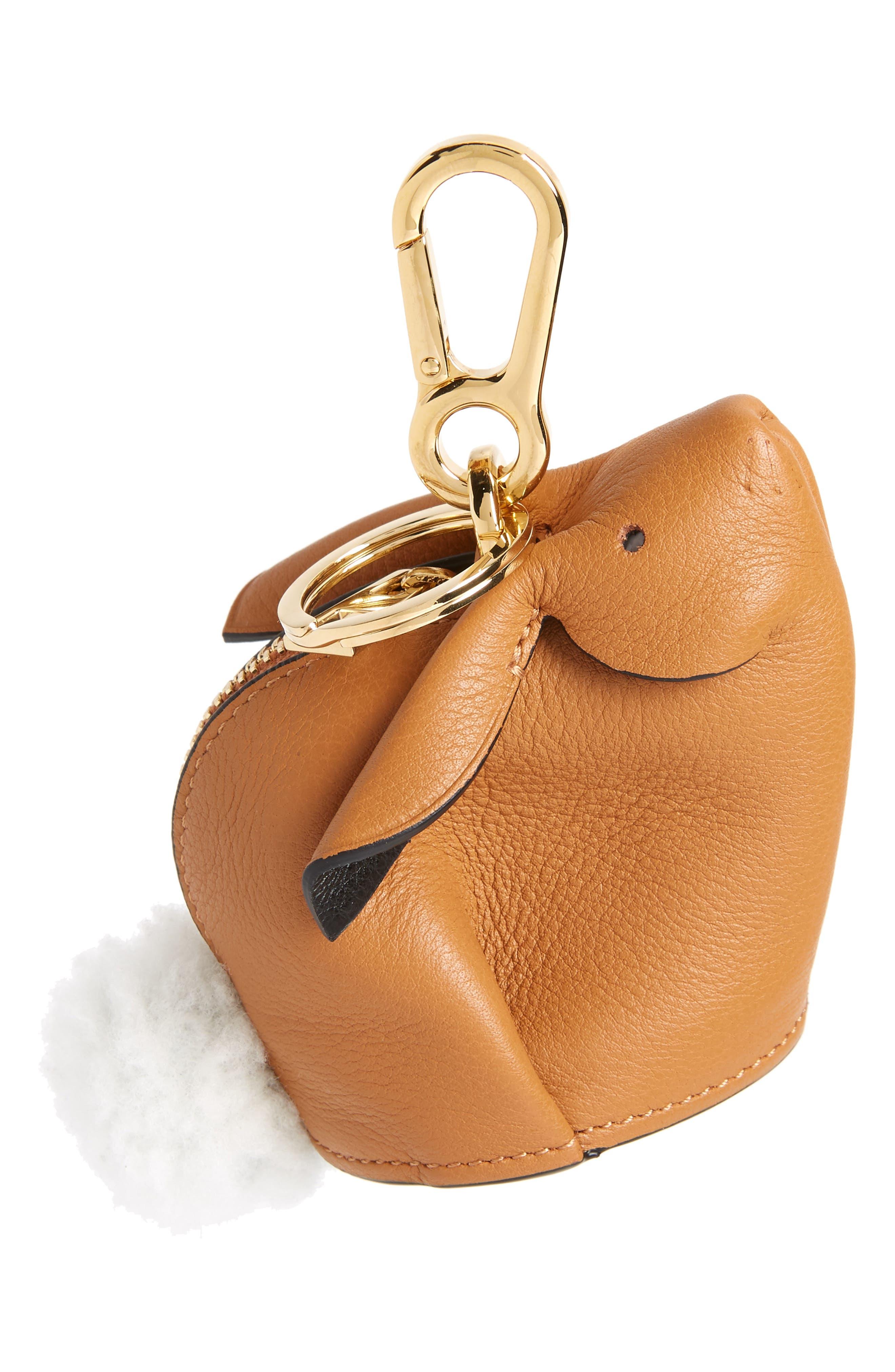 Loewe Bunny Bag Charm with Genuine Shearling   Nordstrom