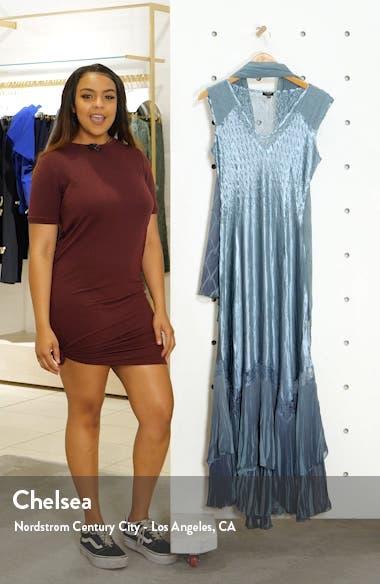 Charmeuse & Chiffon Maxi Dress with Shawl, sales video thumbnail