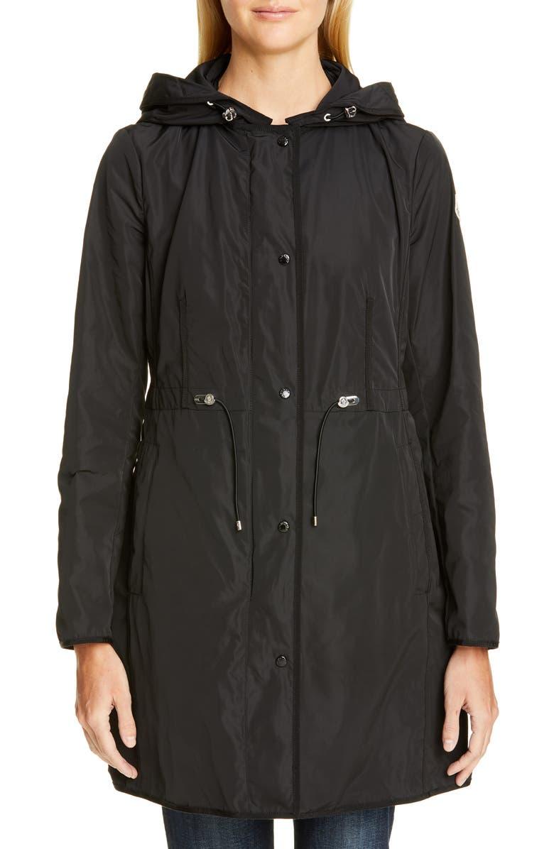 MONCLER Anthemis Raincoat, Main, color, BLACK