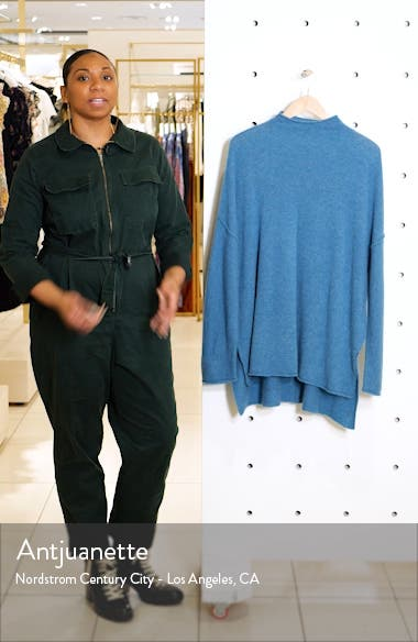 Elevate Oversize Wool & Cashmere Mock Neck Pullover, sales video thumbnail