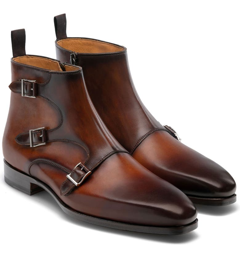 MAGNANNI Jagger Boot, Main, color, COGNAC / MID BROWN