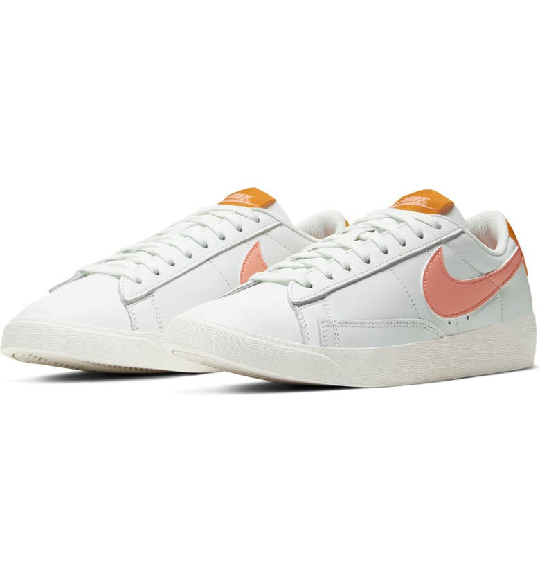 NIKE Blazer Low SE Sneaker, Main, color, WHITE/ PINK QUARTZ-POLLEN RISE