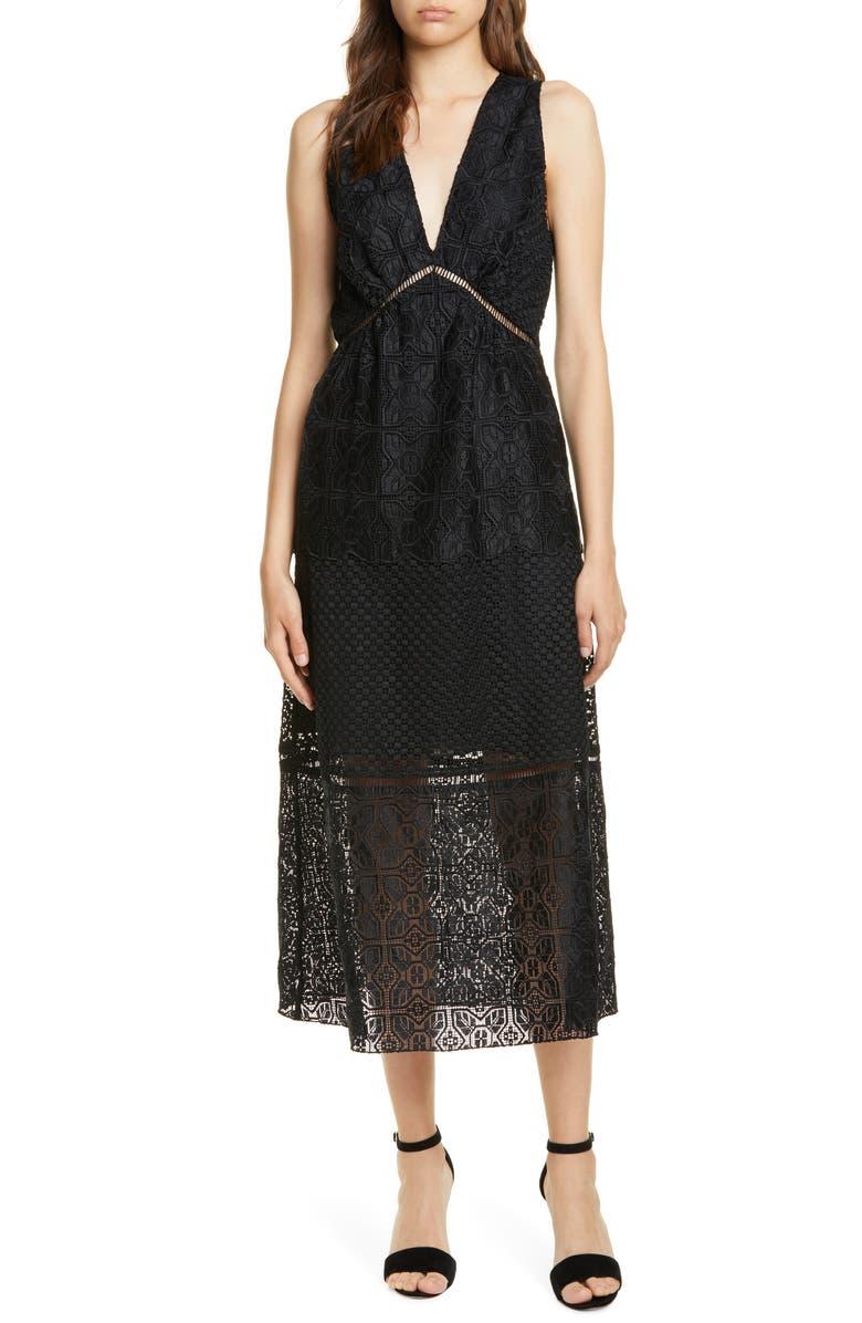 JOIE Ardal Lace Dress, Main, color, 001