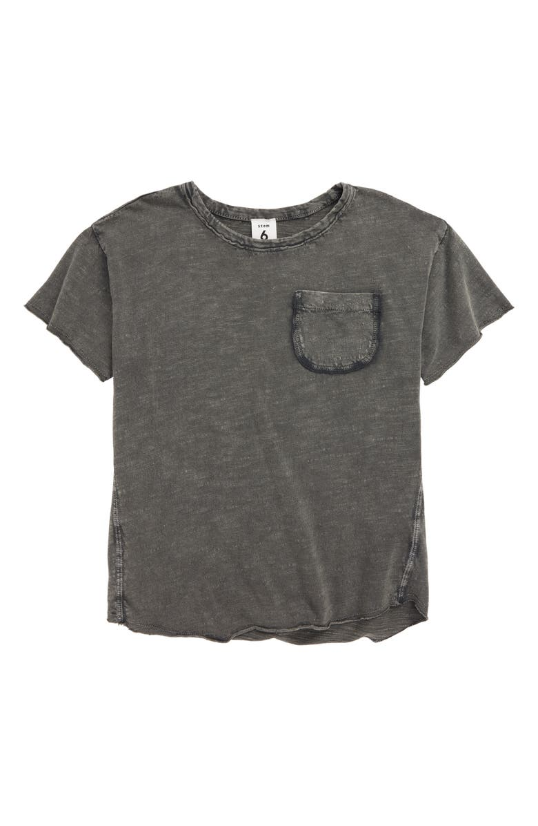 STEM Happy Pocket T-Shirt, Main, color, GREY SHADE CHOOSE FUN