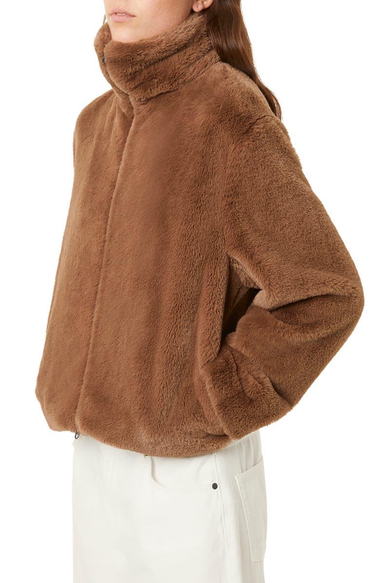 FRENCH CONNECTION Buona Faux Fur Jacket, Main, color, MOCHA MOUSSE