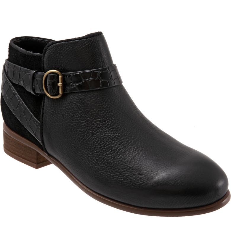 SOFTWALK<SUP>®</SUP> Raveena Bootie, Main, color, BLACK LEATHER