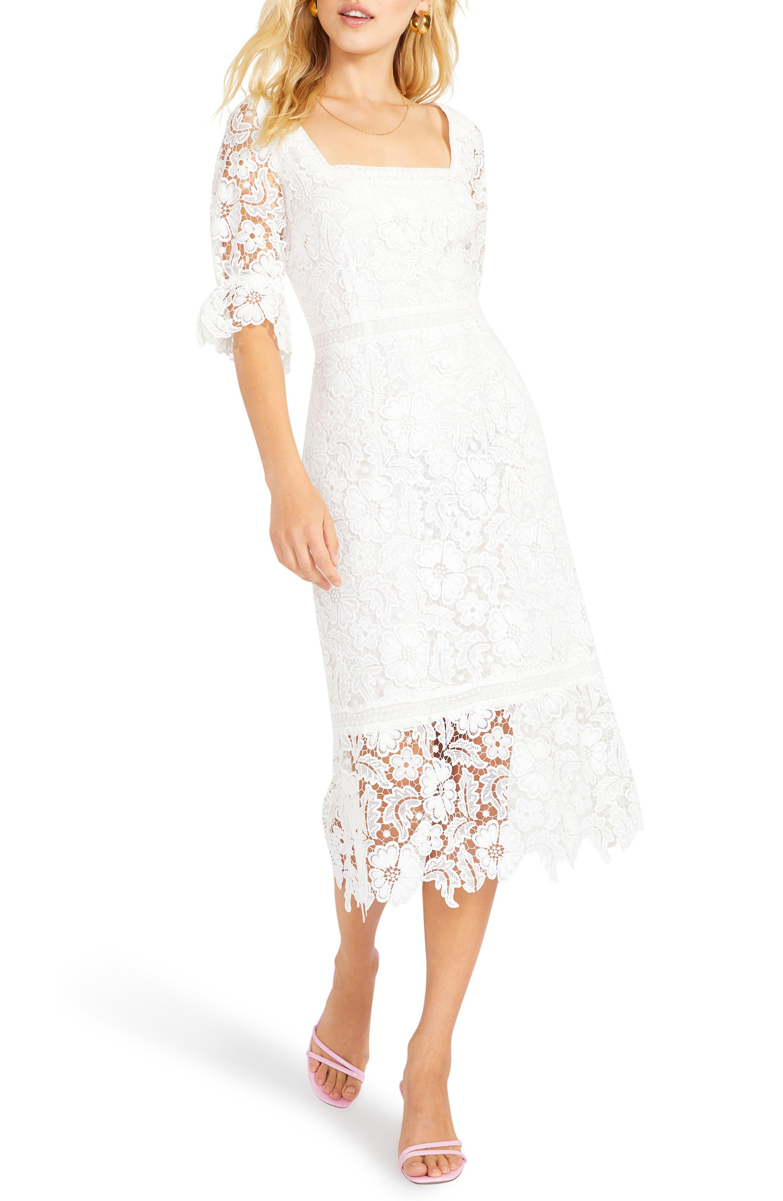 Women's Bb Dakota Did It My Way Lace Midi Dress