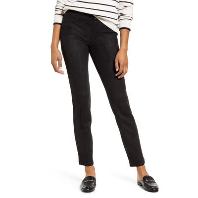 Hue Microsuede Leggings, Black