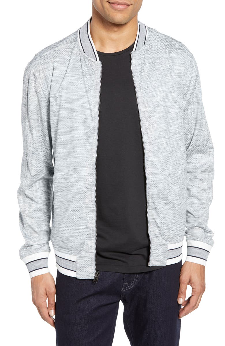VINCE CAMUTO Slim Fit Reversible Bomber Jacket, Main, color, 020