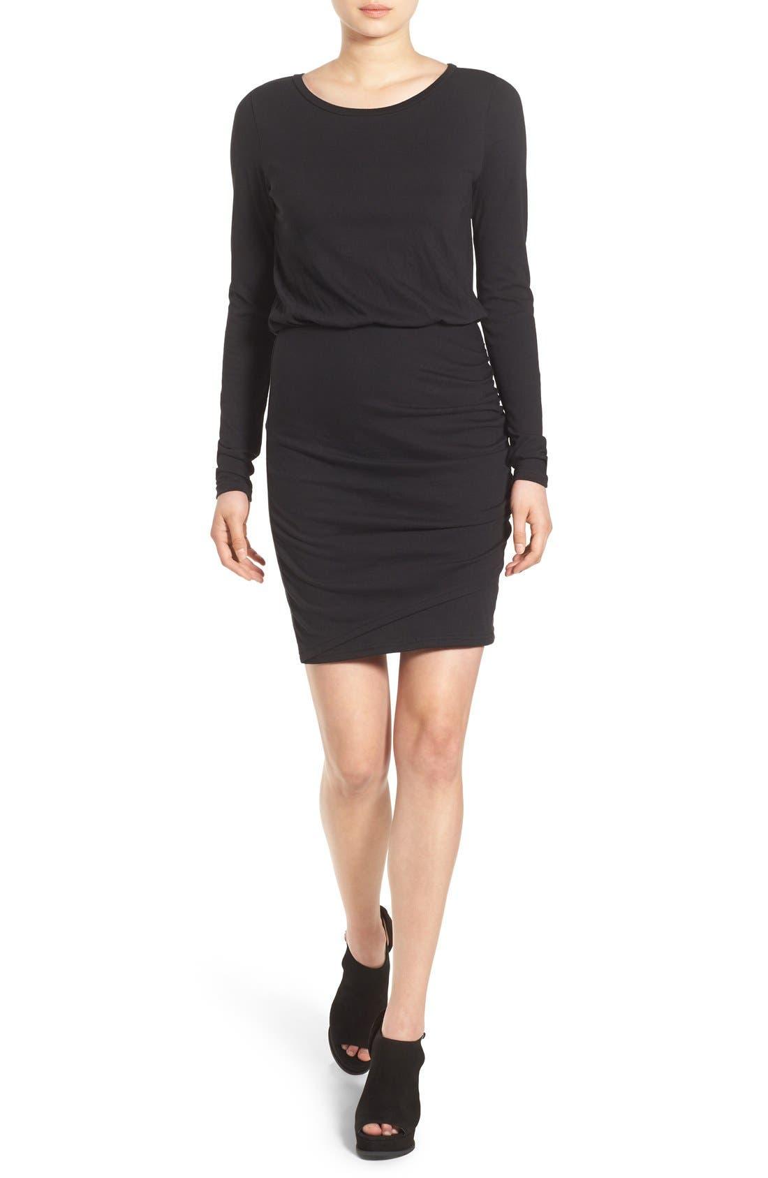 ,                             Blouson Body-Con Dress,                             Main thumbnail 1, color,                             001