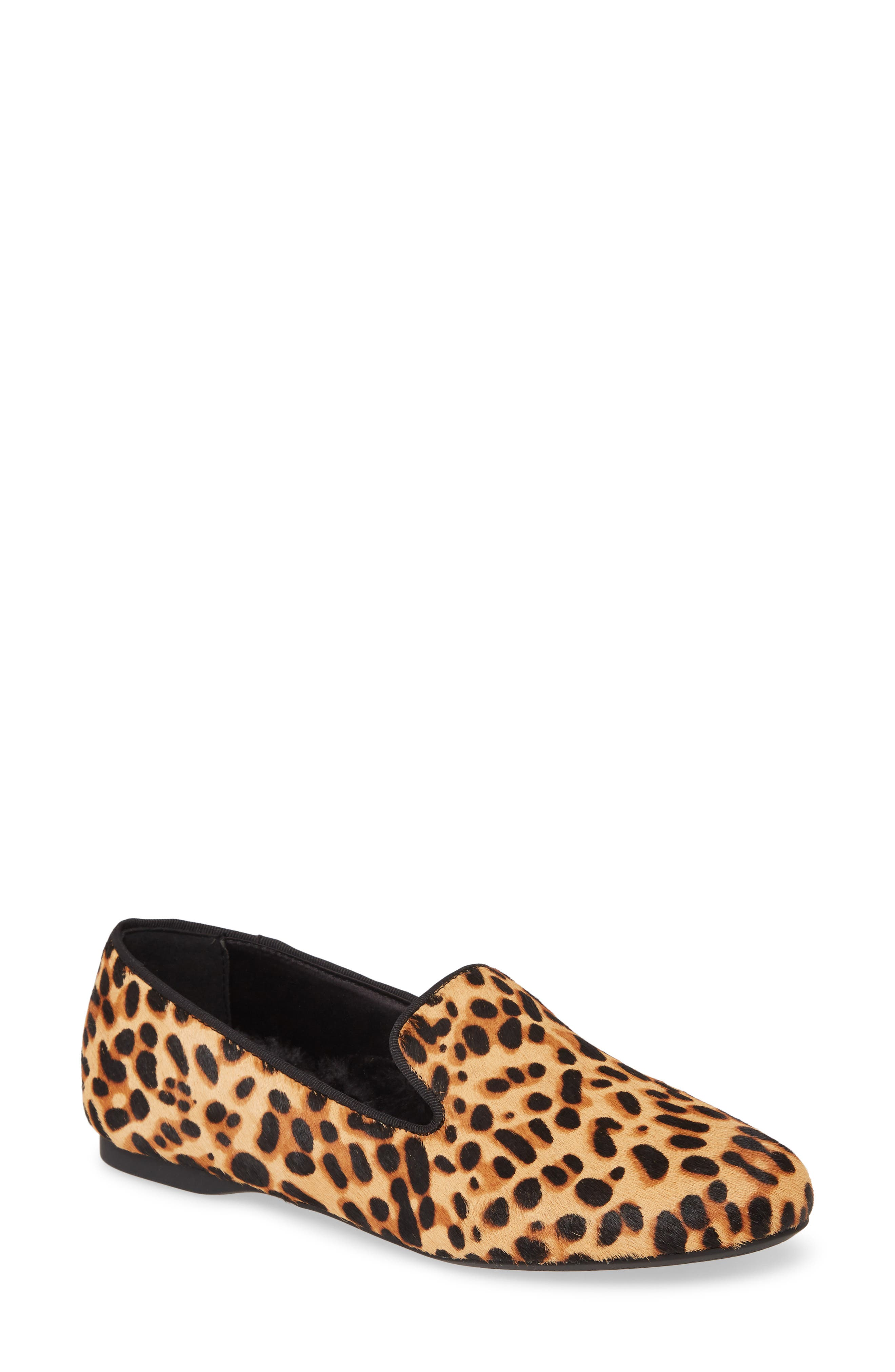 Birdies Starling Faux-Fur Lined Genuine Calf Hair Loafer (Women)