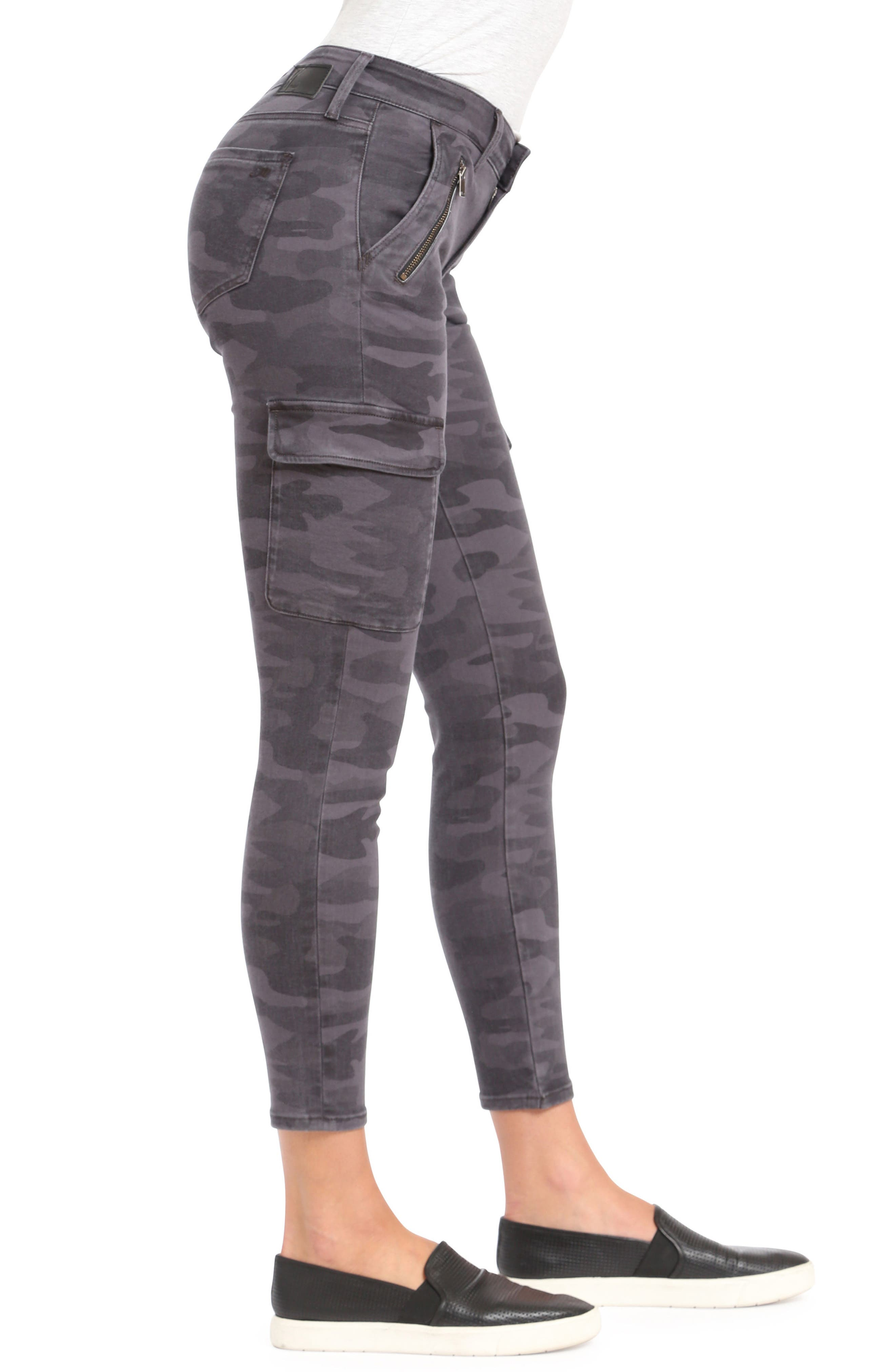 ,                             Juliette Camo Skinny Cargo Pants,                             Alternate thumbnail 4, color,                             020