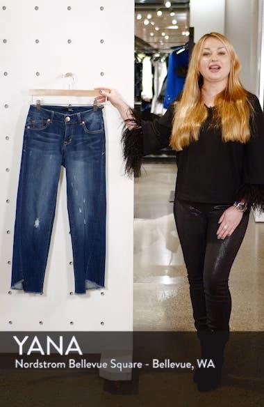 Twist Hem Straight Leg Jeans, sales video thumbnail