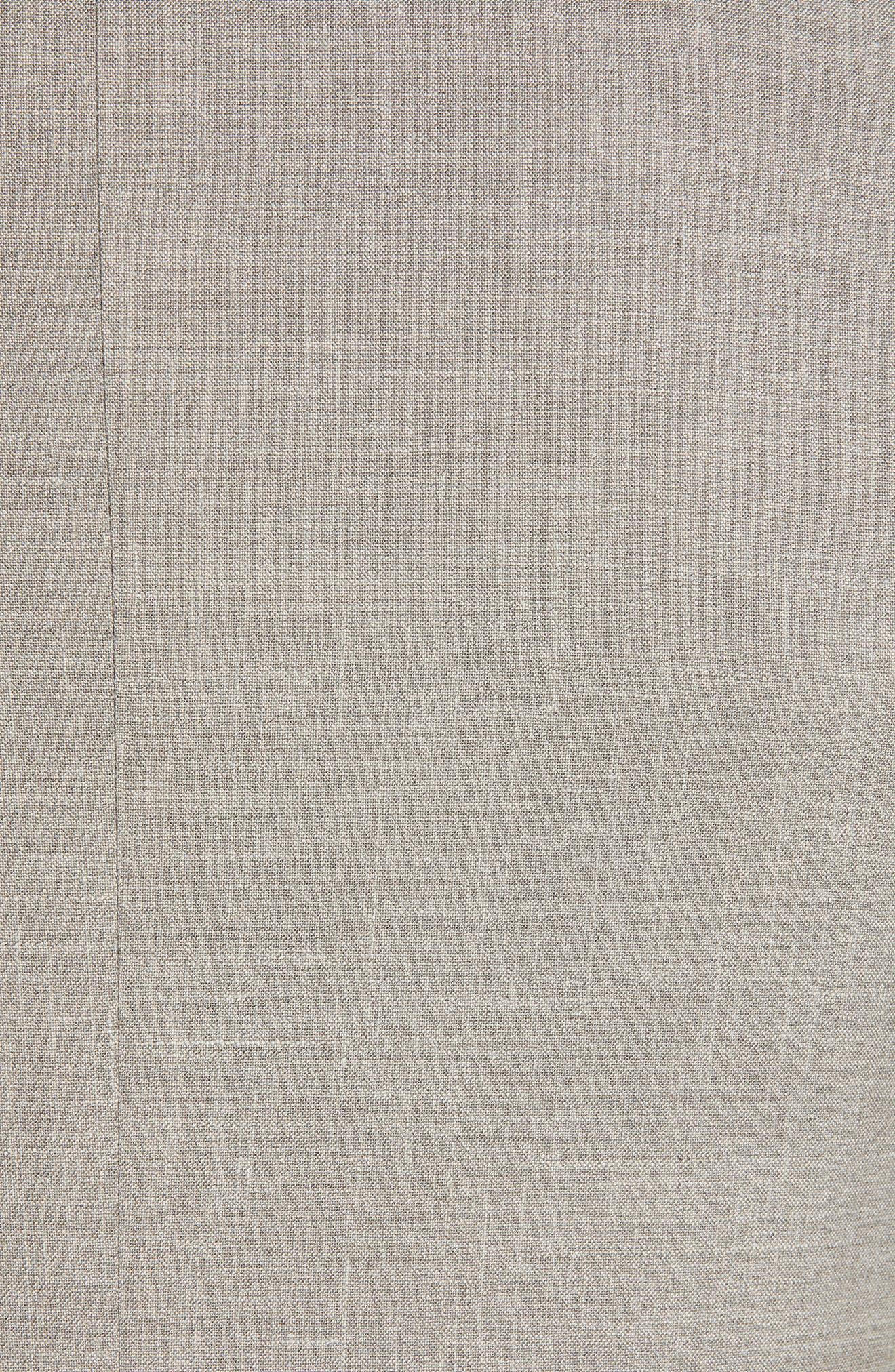 ,                             Milano Trim Fit Solid Wool Blend Suit,                             Alternate thumbnail 7, color,                             BEIGE
